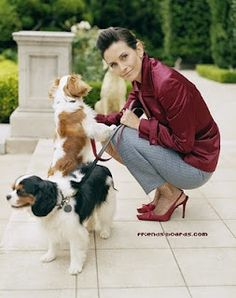 Courtney Cox Cavalier King Charles Spaniel