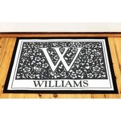 Front doormat with your name on it to welcome your visitors! Housewarming Gifts, Doormat, Animal Print Rug, House Warming, Home Decor, Homemade Home Decor, Decoration Home, Hallway Rug, Interior Decorating