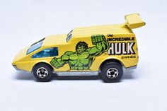 Vintage Hot Wheels Spoiler Sport, The Incredible HULK, Marvel Comics, Hong Kong, Die-cast Toy Car Collection by RememberWhenToys on Etsy Vintage Toys For Sale, Hot Wheels Display, Vintage Hot Wheels, Sports Toys, Incredible Hulk, Tin Toys, Toy Sale, Childhood Memories, Diecast
