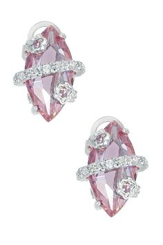 Wrapped Marquise Pink Earrings