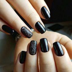 черный маникюр, дизайн ногтей,nail art, design style.manicure