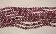 SHELL-MOTHER OF PEARL-LOOSE BEADS-MAGENTA-10 MM ROUND-15 COUNT-PLUS FREE GIFT-$4.19 | eBay
