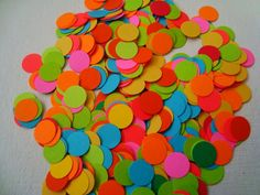 Summer Bright Multicolor Confetti Table decoration Dots by Wcards, $5.50