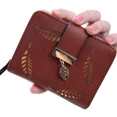 Womens Wallet Gold Motif Brown - Brown - CD187CWITOW 00d3151718