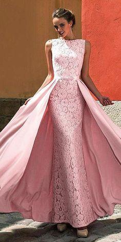 Attractive Lace & Satin Jewel Neckline A-line Prom Dress With Beadings NEW! Attractive Lace & Satin Jewel Neckline A-line Prom Dress With Beadings Pink Prom Dresses, A Line Prom Dresses, Formal Dresses For Women, Formal Gowns, Wedding Dresses, Prom Gowns, Dress Formal, Gown Wedding, Couture Dresses
