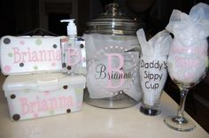 Baby Bundle Shower Gift by PolkaDotPeeps on Etsy
