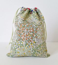 @ Mad For Fabric - Liberty Print - Reversible Drawstring Bag Tutorial