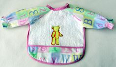 Child's Bib with Sleeves with Bear  Free Shipping by JillnDee, $15.00