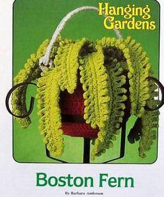 Crochet Hanging Gardens Boston Fern Annie's Attic