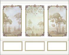 georgian wall panel layout dollhouse printout
