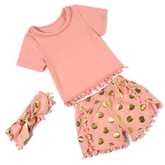 Free Shipping kids clothing infant newborn Pompom pettiset  Baby girls clothing baby suit girl set  KP-POPS14