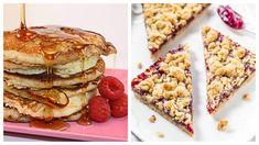 A zabpehelyből készült sütik nemcsak egészségesek, nagyon finomak is. Készítsd el két szuper receptünket, a málnás-zabpelyhes morzsasütit és a zabpelyhes palacsintát. Mindkettő isteni. Healthy Recipes, Healthy Food, Pancakes, Food And Drink, Keto, Breakfast, Ethnic Recipes, Healthy Foods, Morning Coffee