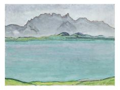 The Stockhorn Mountains and Lake Thun 1911 G Ferdinand Hodler