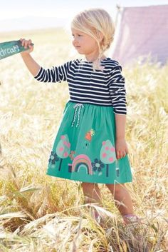 Buy Rainbow Appliqué 2 In 1 Dress (3mths-6yrs) online today at Next: United States of America