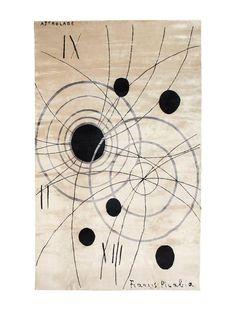 Francis Picabia Astrolab Silk Rug (Ed 6) by Sabine De Gunzburg / Handwoven 2