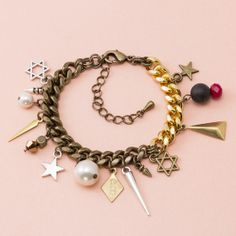 """CLOCH"" handmade jewelry   http://www.cloch.jp  #Handmade #Jewelry #Pearl #Star #Spike #Gold #Chain #CLOCH #Mye"