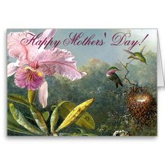 Shop Orchid Hummingbirds Mothers Day Card created by Personalize it with photos & text or purchase as is! Mother's Day Greeting Cards, Custom Greeting Cards, Mother Card, Happy Day, Thoughtful Gifts, Orchids, Hummingbirds, Mothers, Landscape