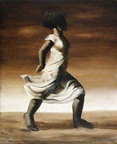 Portal Portinari - Mulata de Vestido Branco. citada na carta como Mulher mulata andando
