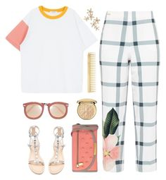 """""""Breaking out my sandals!"""" by celida-loves-pink ❤ liked on Polyvore featuring Ted Baker, Rebecca Minkoff, Marc by Marc Jacobs, Karen Walker, AERIN, Christian Dior, Bonheur, sandals, Minimalist and Minimaliststyle"""
