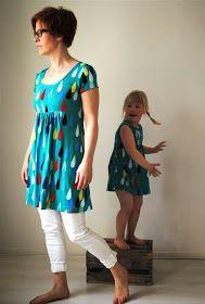 Hommahuone: Virta pisaroi Short Sleeve Dresses, Dresses With Sleeves, Summer Dresses, Sewing, Fashion, Moda, Dressmaking, Sleeve Dresses, Summer Sundresses