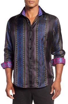 Robert graham big and tall mens clothing riddick extra for Robert graham tall shirts