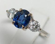 Sterling Silver Two Tone Poire Zircone cubique Halo Saphir Bleu Bande élégant Cocktail Ring 7