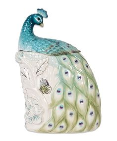 Look what I found on #zulily! Peacock Cookie Jar by Edie Rose by Rachel Bilson #zulilyfinds