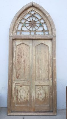 Wood Door with Arched Transom – Antiquities Warehouse Sliding Glass Door, Arched Doors, Wood Doors, Vintage Doors, Concrete Houses, Beautiful Doors, Modern House Exterior, House Designs Exterior, Doors
