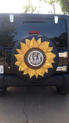 Hand painted custom spare tire cover by kateskraftsandgifts Custom Spare Tire Covers, Jeep Spare Tire Covers, Jeep Tire Cover, Tire Covers For Jeeps, Yellow Jeep Wrangler, Jeep Wrangler Wheels, Jeep Wrangler Girl, Jeep Wheel Covers, Jeep Covers