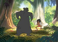 gif disney disney gif fighting mowgli the jungle book baloo Disney Kunst, Arte Disney, Disney Fan Art, Disney Magic, Jungle Book Music, Mowgli The Jungle Book, Walt Disney Animation, Film Disney, Disney Movies