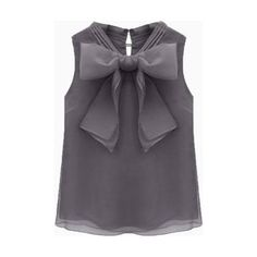993d12949e Discount 2015 Summer Sleeveless Plus Size Black White Gray Blusas Femininas  Casual Bow Shirts For Women Tops Ladies Blouses 8801 From China