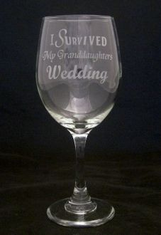 I Survived My Granddaughters Wedding Wine Glasses