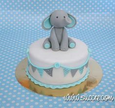 19 ideas for baby shower cake pasteles Elephant Baby Shower Cake, Elephant Cakes, Baby Shower Cakes For Boys, Baby Boy Shower, Cakes Without Fondant, Fondant Baby, Fondant Cupcakes, Cupcake Cakes, Gateau Baby Shower