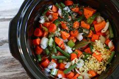 Crock Pot Lentil Sweet Potato Soup #vegan #slowcooker