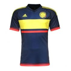 2015 Colombia Away Navy Soccer Jersey Shirt