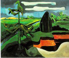 """Karl Schmidt-Rottluff """"Moonlit Landscape in Pomerania"""", 1931 (Germany, Expressionism, cent. Karl Schmidt Rottluff, Ernst Ludwig Kirchner, Blue Rider, Expressionist Artists, Kandinsky, Find Art, Les Oeuvres, Modern Art, Street Art"""