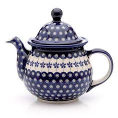 Boleslawiec-Ceramic-Polish-Pottery-Teapot-Kettle-GU-943