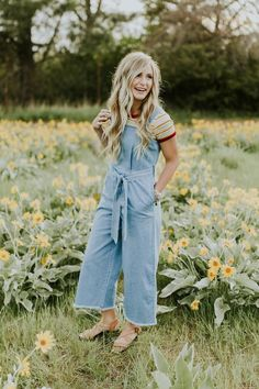 Patti Denim Romper |