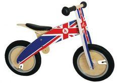 Bicicleta de madera para niños sin pedales Inglaterra en El País de los Juguetes