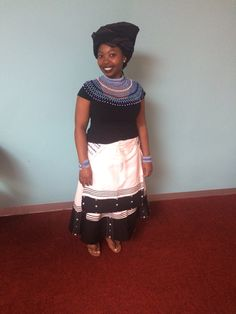 Xhosa traditional outfit Xhosa Attire, African Attire, African Wear, African Fashion, African Traditional Dresses, Traditional Wedding Dresses, Traditional Outfits, African Dresses For Women, African Women