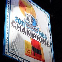 The Dallas Mavericks Championship  banner...Let's go Mavs!!!