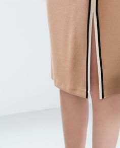 TUBE SKIRT WITH SLIT AND PIPING from Zara