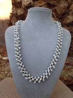 Beaded Kumihimo Necklace With Magatama Beads by Kumibytim on Etsy, $35.00