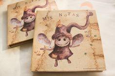 Bloc de notas Cronopio Volador de Arte, Grabado e Ilustración por DaWanda.com