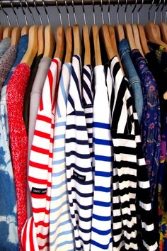 classic stripe tees.  Love long sleeve striped tops.