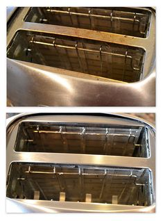 clean the oily sticky residue off of appliances using one table spoon cream of tarter with a few drops of water and scrub.