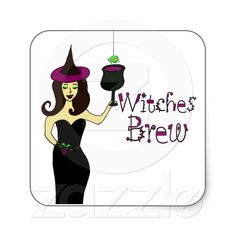 Witches Brew Halloween Stickers