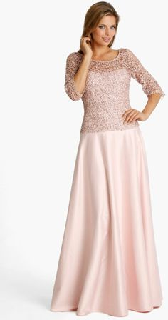 JS Collections Lace Satin Gown @Lyst