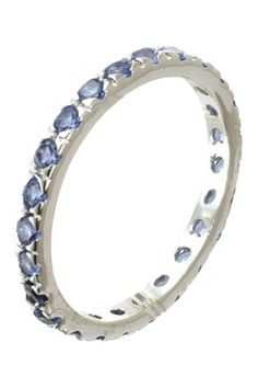 CZ By Kenneth Jay Lane - CZ Band Ring is now 82% off. Free Shipping on orders over $100.