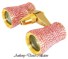 Swarovski crystal binoculars are the perfect crystal opera glasses. Perfect for the ballet, symphony, graduations, or any other large even. Pink Houses, Everything Pink, Canoeing, Pink Eyes, Technology Gadgets, All Things Beauty, Mommy And Me, Binoculars, Pretty In Pink